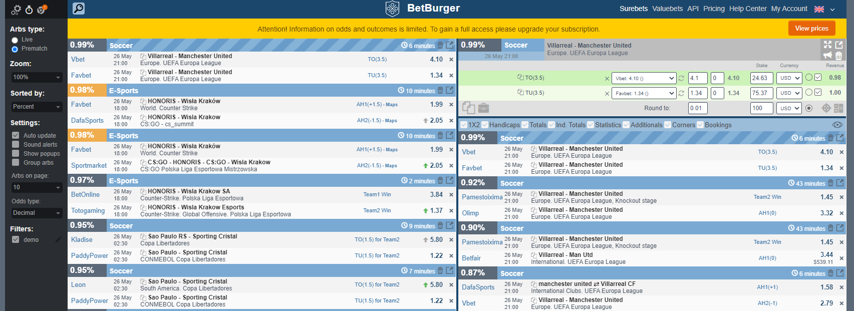 free arbitrage betting service